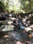 Der Wasserfall im Norden unseres Grundstücks